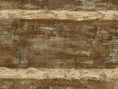 Walnut Brown Faux Log Cabin with Cream Grout on Sure Strip Wallpaper - all4wallswall-paper