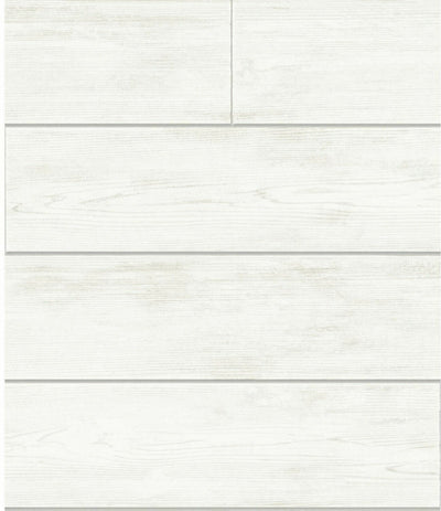Magnolia Home Joanna Gaines Off White Shiplap Wood on Sure Strip Wallpaper - all4wallswall-paper