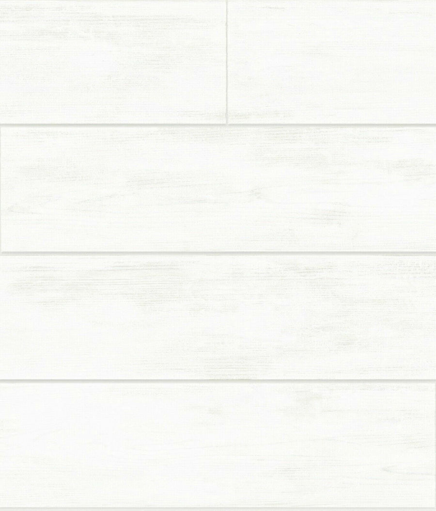 Magnolia Home Joanna Gaines White Shiplap Wood on Sure Strip Wallpaper - all4wallswall-paper