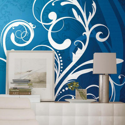 Mural Portfolio II Deco Scroll Chair Rail Mural - all4wallswall-paper