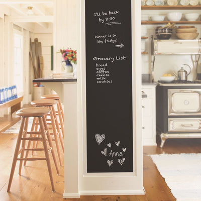 Black Chalkboard Peel and Stick Wallpaper - all4wallswall-paper