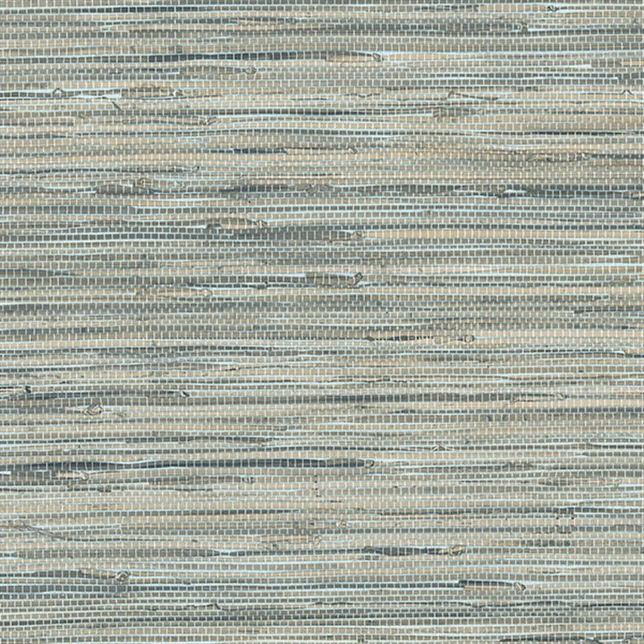 Blue Grey Faux Grasscloth Wallpaper - all4wallswall-paper