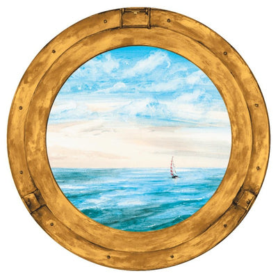 Porthole Window Prepasted Wallpaper Mural - all4wallswall-paper