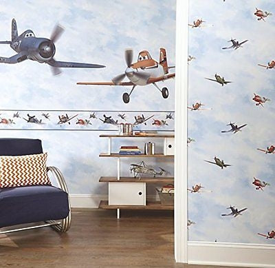 Walt Disney Planes In the Clouds Sure Strip Wallpaper Border - all4wallswall-paper