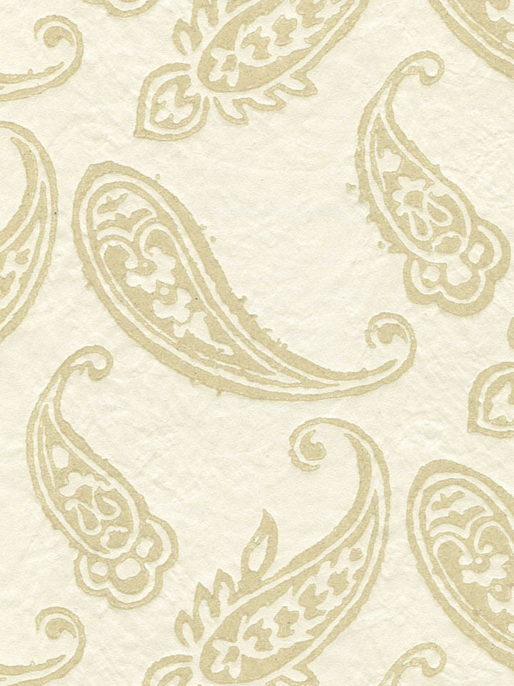 Raised Sand Textured Beige Paisley On Satin Cream Wallpaper - all4wallswall-paper
