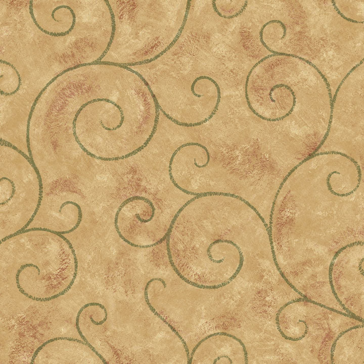 Imperial The Comfort Cafe Large Scroll Wallpaper - all4wallswall-paper