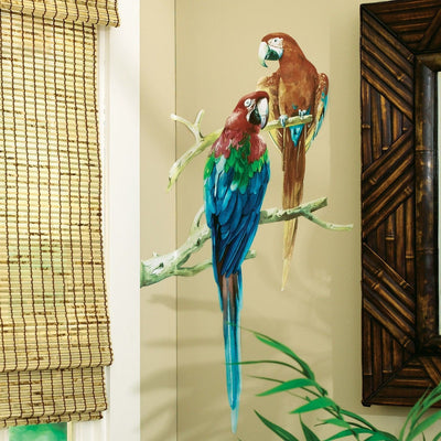 Two Large Parrots Mini Mural - all4wallswall-paper