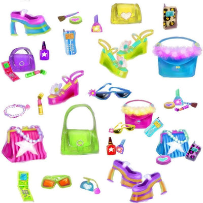 Girls Accessories Peel & Stick Appliques - all4wallswall-paper