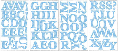 "RoomMates Blue Polka Dotted 2.5"" Peel and Stick Letters - all4wallswall-paper"