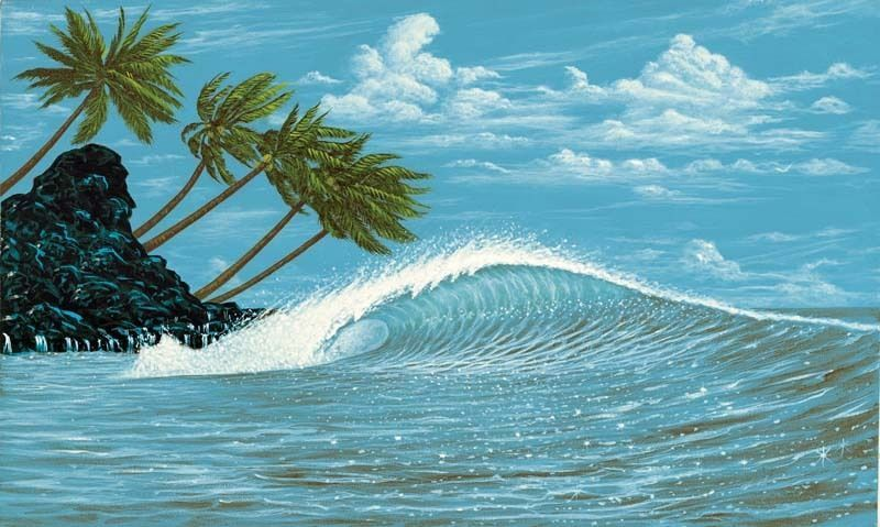 Hang Ten Tropical Ocean - Palm Tree Prepasted 6' x 10.5' Wall Mural - all4wallswall-paper