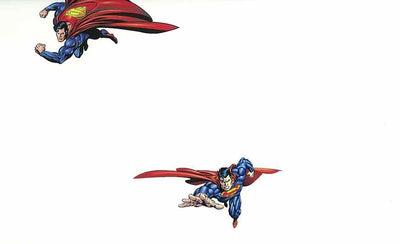 Superman on White Sure Strip Wallpaper - all4wallswall-paper