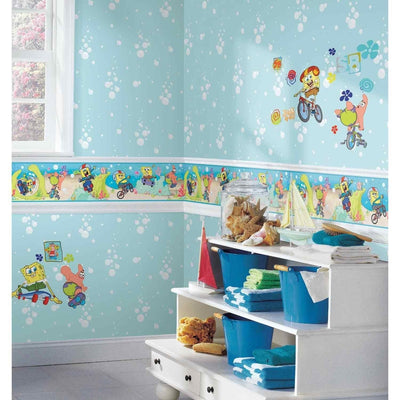 Nickelodeon Sponge Bob Seafoam Green Bubbles Wallpaper - all4wallswall-paper