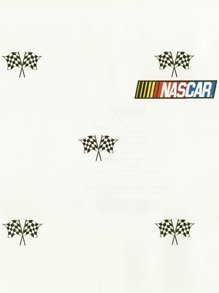 Nascar Checkered Flag on White Sports Wallpaper - all4wallswall-paper