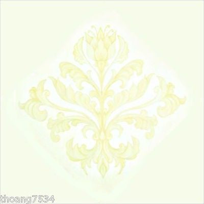 Damask Medallions Instant Rub On Transfer Expressions Mural - all4wallswall-paper