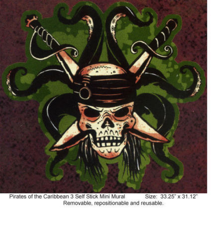 Disney Pirate - Pirates of the Carribean Skull and Swords Mini Mural - all4wallswall-paper