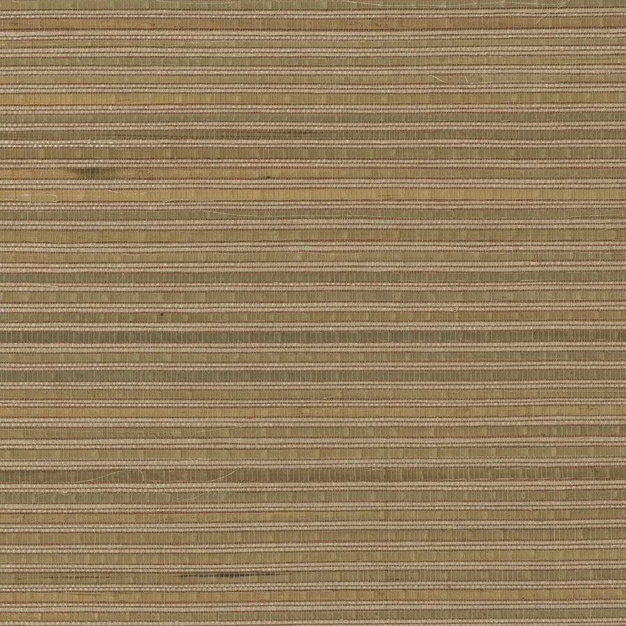 Brown & Green Bamboo Grass and Sisal Real Textured Grasscloth Wallpaper - all4wallswall-paper