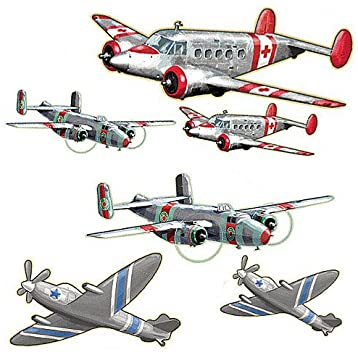 Airplanes from the Past Precut Mural - all4wallswall-paper