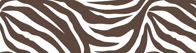 Brown and White Zebra Peel & Stick Wall Pops 16 FT Wallpaper Border - all4wallswall-paper