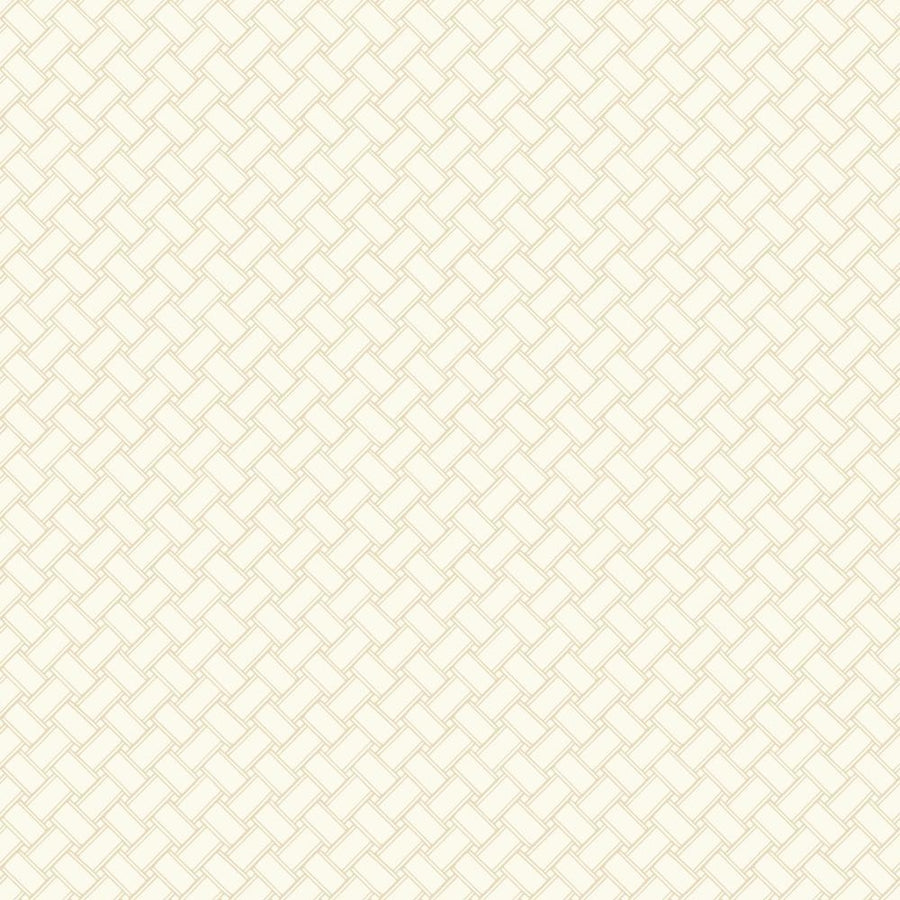 Carey Lind Golden Beige Weave Sure Strip Wallpaper - all4wallswall-paper