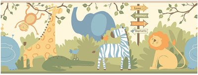 York Wallcoverings A day at the Zoo Wallpaper Border - all4wallswall-paper