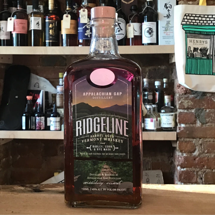 Appalachian Gap Distillery, Ridgeline Vermont Whiskey