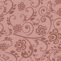 Wide Overtones: Floral Swirl, Indian Red