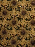 Prepacked Belagio Cork Fabric Natural 1001 Yellow Daisies
