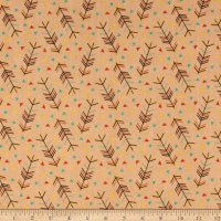 Forest Animals Arrows Orange Flannel