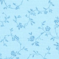 Wide Overtones: Rose Floral Powder Blue