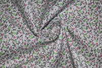 Country Calico: Single Flower Soft Gray