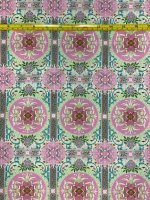 Treasures of Nature: Aviary Tile, Pink