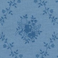 Wide Overtones: Sweet Floral Bouquet Blue