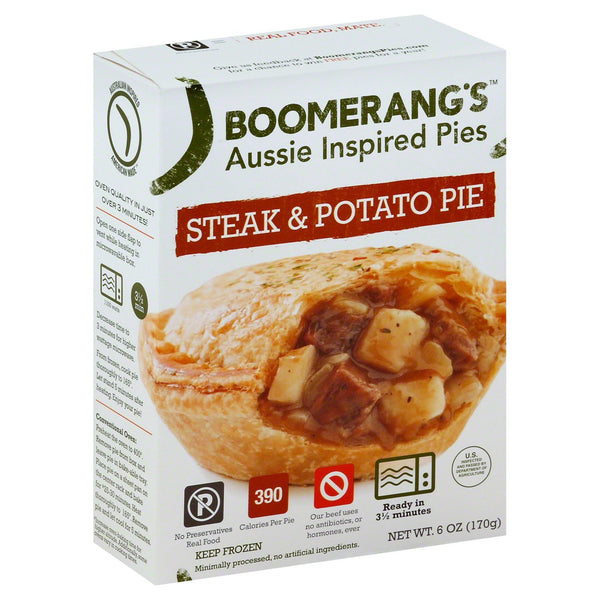 Boomerang's Steak & Potato Pie 6 oz.