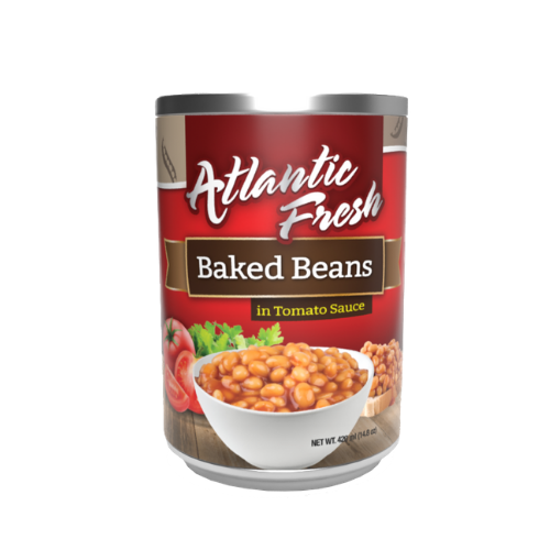 Atlantic Fresh Baked Beans in Tomato Sauce 14.8 oz