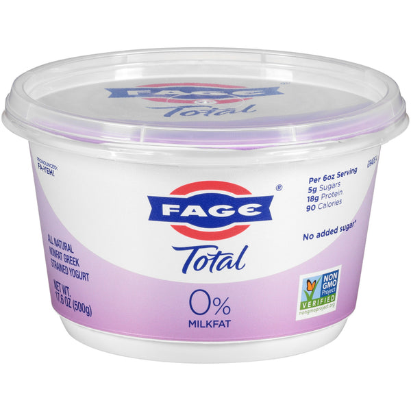 Total Fage Plain Yogurt 0% Milk Fat  17.6 oz