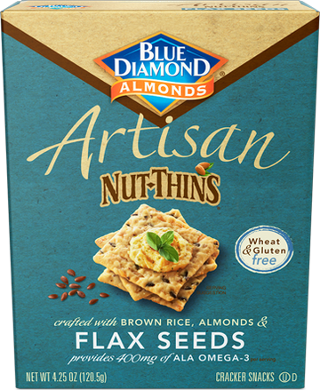 Blue Diamond Nut Thins Flax Seeds 4.5 oz