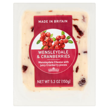 Somerdale Wensleydale & Cranberries Cheddar 5.3oz