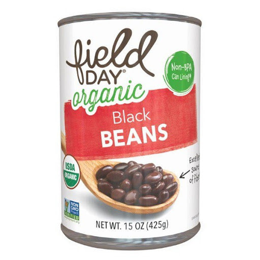 Field Day Organic Black Beans 15 oz