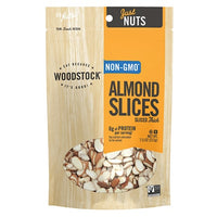 Woodstock Thick Raw Almond Sliced 7.5 oz