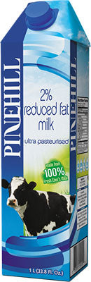 Pinehill Dairy Reduced Fat 2% Milk 1L