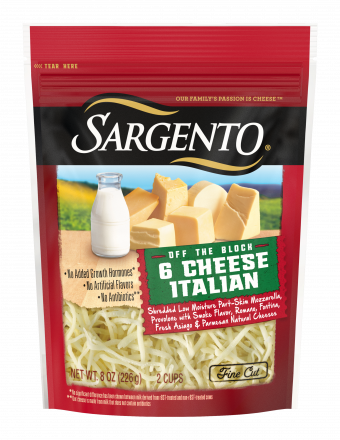 Sargento 6 Cheese Italian Shredded 8oz