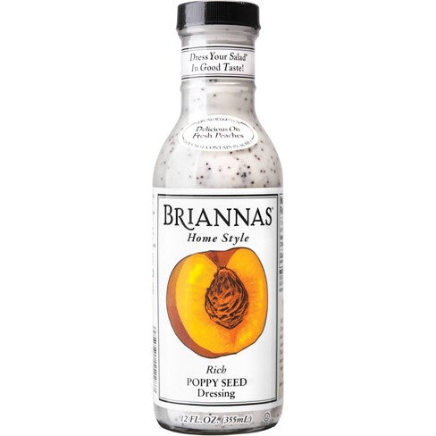 Briannas Rich Poppy Seed Salad Dressing 12 oz.