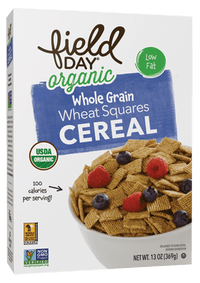 Field Day Organic Whole Grain Wheat Squares 13 oz