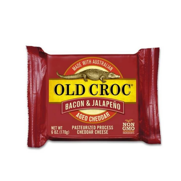 Old Croc Bacon & Jalapeno Aged Cheddar 6oz