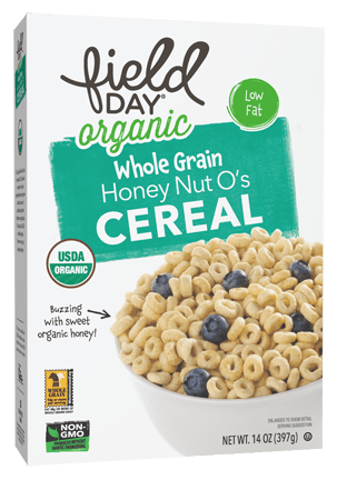 Field Day Organic Honey Nut O's Cereal  14 oz