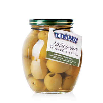Delallo Stuffed Jalapeno Olives, 7oz