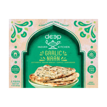 Deep Garlic Naan Bread