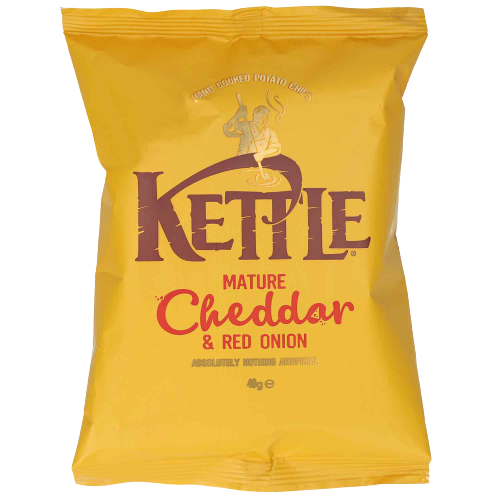 Kettle  Mature Cheddar & Red Onion Chips 40g