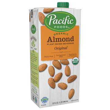 Pacific Foods Naturally Almond Beverage  32 Fz