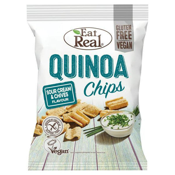 Eat Real Cream & Chives Quinoa Chips 80g
